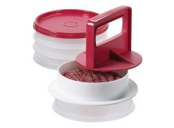 Hamburger Press in Red with Freezer Set in Clear