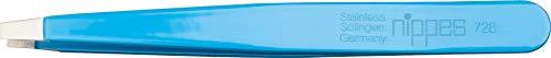 Nippes Solingen Pinzette 728, Zum Entfernen von feinsten Härchen, Rostfreier Edelstahl, 9,5 cm, Blau (lakiert)