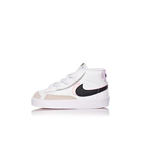 Nike Blazer Mid 77 Toddler DD1849-101 White Black Arctic Punch (21 - White)