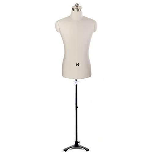 ZAQI Maniqui Costura Mujer Modista Maniquí de Costura Masculino Ajustable en Altura, trípode de Soporte de Forma de Vestido de pie Ligero, Prendas de Vestir, Chaquetas, Vestido de Boda