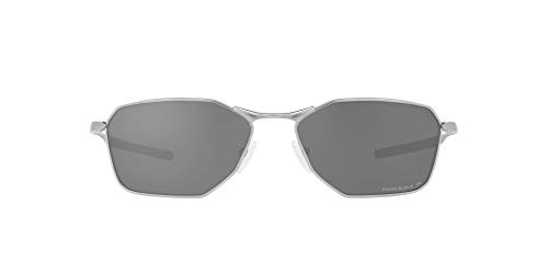 OO6047 Savitar Sunglasses, Satin Chrome/Prizm Black Polarized, 58mm