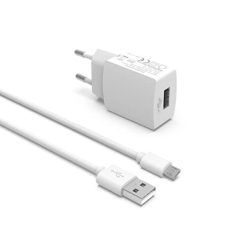 Superer Cargador micro USB compatible con Google Chromecast 3ª generación de vídeo Chromecast Ultra de 2ª generación, color blanco