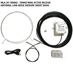 MLA-30 Loop Antenna Active Receiving Antenna 100kHz - 30MHz for Short Wave Radio Rainproof Receiving Antenna