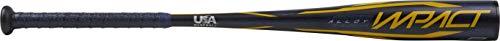 Rawlings 2020 Impact USA Youth Baseball Bat, 27 inch (-9), Yellow, Black (USZI9-27/18)