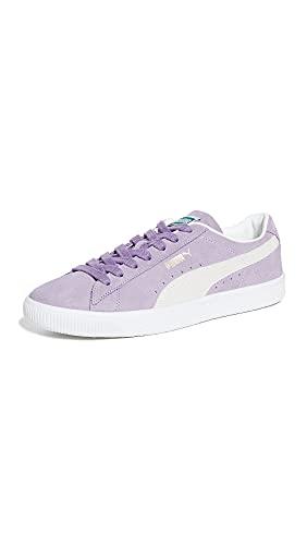 PUMA Select Men's Suede Vintage Sneakers, Light Lavender/Puma White, 8 Medium US