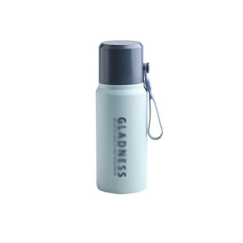 swq Botella de Termo Deportiva, Botella de Acero Inoxidable de 14.8oz 304, Taza a Prueba de Fugas de vacío portátil de múltiples Capas, niño/niña/niño/Escuela (Color : Light Blue)