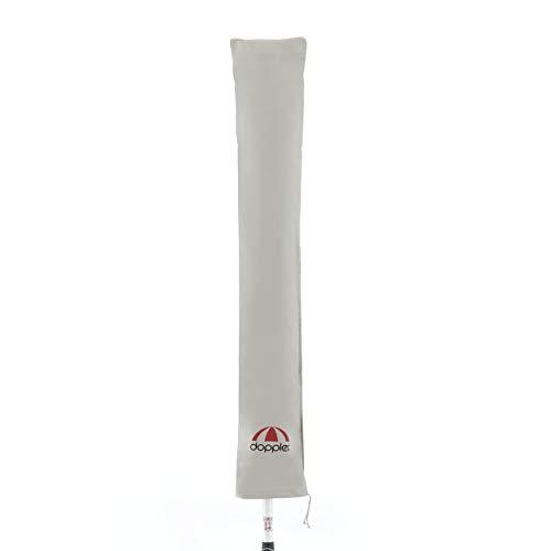 doppler Sonnenschirm Schutzhülle Expert - Für Gartenschirme bis 300 cm - Mit Stab - Für eine komfortable Bedienung - Wetterfest - Grau