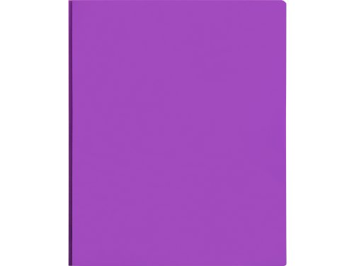 Lion 2-Pocket Plastic Folder with Fasteners, Purple, 1 Folder (92310-PR)
