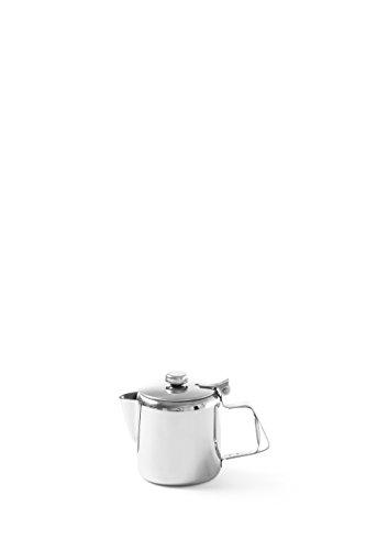HENDI Kaffee-/Teekanne, mit Klappdeckel, Kaffeekanne, Wasserkessel Tropfwasserkocher, Kaffee, 0,3L, ø74x(H)95mm, Edelstahl