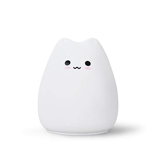 Little Cute Cat Silicone Lamp Children Bedroom Led Eye Protection Table Lamp Colorful Color Changing Decompression Night Light Creative Gift Cute cat
