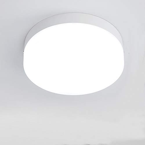 Plafoniera a LED, STARRYOL 16W Faretto a LED rotondo con 6000K True Whit, completo per corridoio, balcone, bagno, cucina, camera da letto, corridoio, libreria - Diametro 120mm