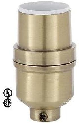 B & Pランプアンティーク真鍮仕上げ、med。ベースモダンキーレスランプソケット
