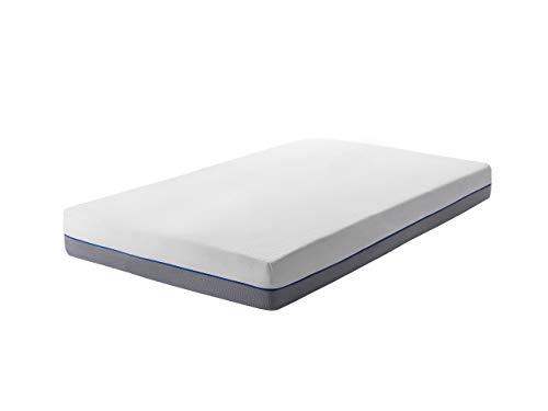 Beliani Single Mattress 3ft White Grey Foam Filling Polyester Cover Glee