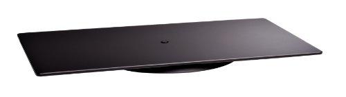 Meliconi Rotobase Elite M - Supporto Girevole in Vetro temperato per TV e Monitor PC, Portata massima 70 kg, Nero