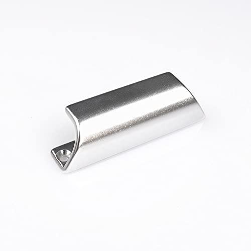 FELGNER Balkontürgriff 6010 Türgriff für Balkon und Terrasse Außen-Montage Ziehgriff Balkongriff zum ziehen wetterbeständig Schrauben - F1 Aluminium Natur