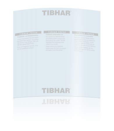 Tibhar Tischtennis Belagschutzfolie Fresh | selbstklebend | 2 Stück