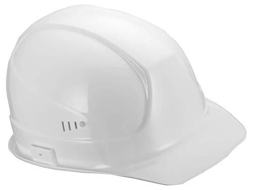 Uvex Superboss Schutzhelm - Belüfteter Arbeitshelm für die Baustelle - Weiß Weiß