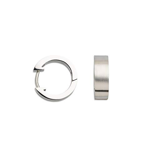Xenox X1767 - Pendientes de aro de acero inoxidable para mujer