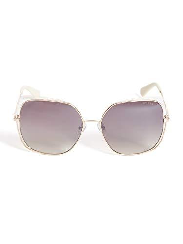 Guess GU-7638-S 32G - Gafas de sol, color oro rosa y blanco
