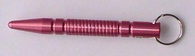 Kubotan Key Chain, Schlagstock, Druckverstärker, Schlüsselanhänger pink spitz