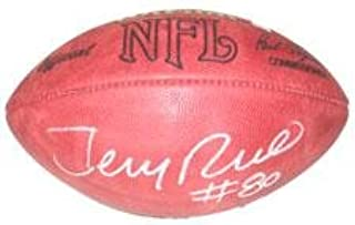 Jerry Rice Autographed Football - NFL Tagliabue Game Model Football with Jerry Rice Hologram