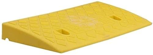 HTL Rampa de seguridad para interiores, rampas de seguridad para bicicleta scooter de plástico, antideslizante, triángulo, para silla de ruedas, zona de desaceleración, amarillo, 50225 cm