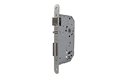 Tesa Assa Abloy 40305RHN Cerradura De Embutir Para Puertas De Madera Sin Cilindro Niquelado Entrada 50 mm, Frente Redondo 4030