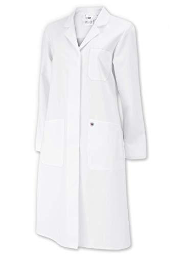 BP 1699-130-21-52n Mantel für Frauen, Langarm, Kragen mit Aufschlag, 205,00 g/m² Reine Baumwolle, weiß ,52n