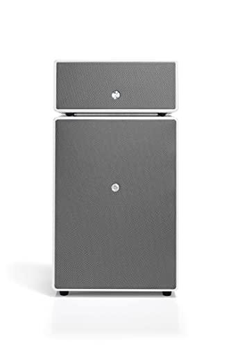 Cassa Attiva Hi-Fi Wireless Bluetooth Multiroom con Bass Reflex e Connessione Wi-Fi, Apple Air Play, Spotify - Subwoofer Attivo - Amplificatore 300W - Audio Pro Drumfire - Bianco