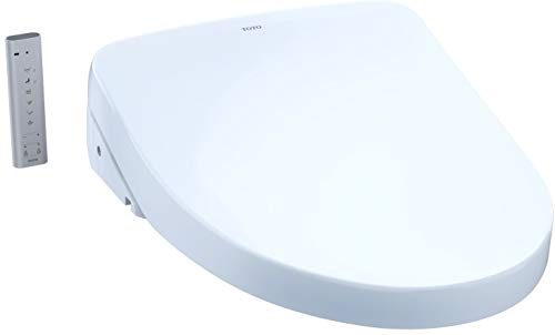 TOTO SW3046#01 S500e WASHLET Electronic Bidet Toilet Seat with EWATER+ and Contemporary Lid, Elongated, Cotton White