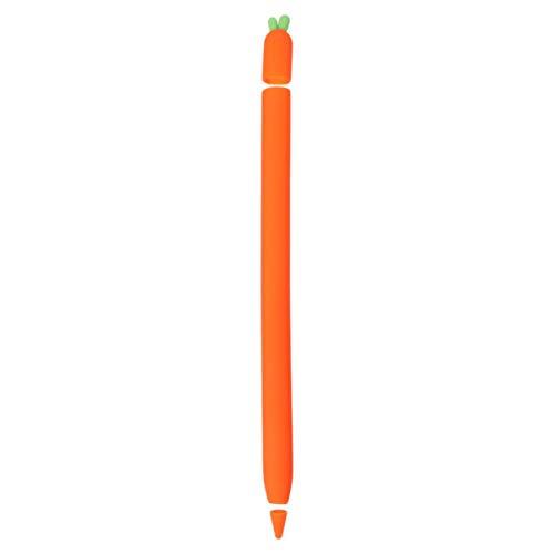UKCOCO - Carcasa compatible con Apple lápiz de silicona en forma de zanahoria, funda de protección para bolígrafo de pantalla táctil, funda de protección flexible compatible con Ipencil 1/2