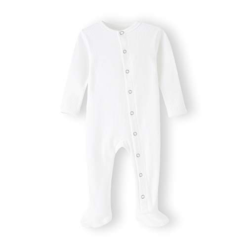 ACESTAR Baby Kids Footed Sleeper Pajamas with Mittens Cuffs - Cotton Long Sleeve Baby Snap-Up Romper - Toddler Onesies Jumpsuit Sleep and Play 0-12 Months (3-6 Months, White)