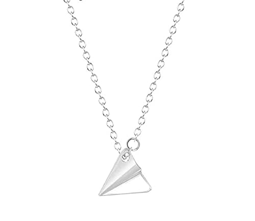 CICI 1D ONE DIRECTION Harry Style Paper Airplane Necklace, Fun Silver Alloy Fan Necklace