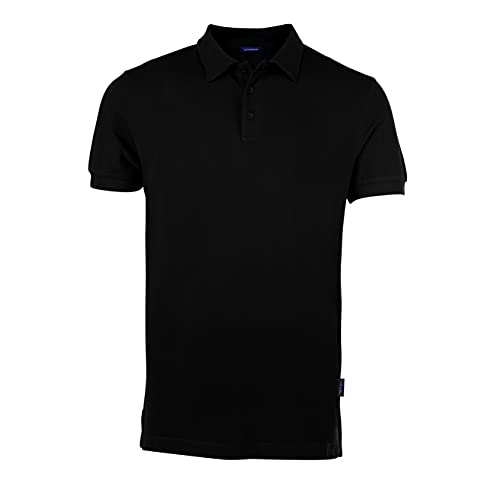 HRM Herren Luxury M Poloshirt, Schwarz (Black 01-Black), Large
