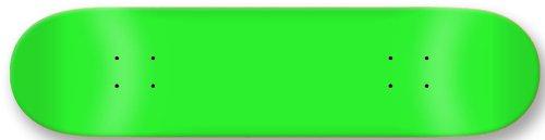 Moose Blank Skateboard Deck, Neon Green, 7.5-Inch