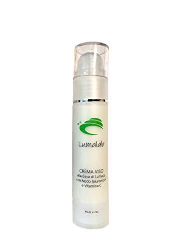 LumaLab Crema facial de baba de caracol con ácido hialurónico y vitamina C con acción antiarrugas, antimanchas, hidratante y regeneradora, 100% Made in Italy, 50 ml