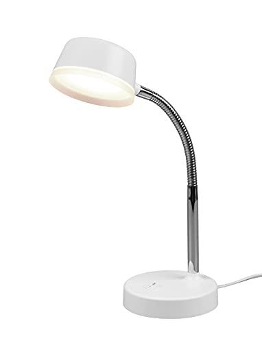 Reality Leuchten Kiko R52501101 - Lámpara de mesa led (plástico, 4,5 W), color blanco