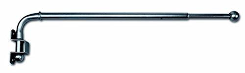 Jellinghaus Sonnenschutz Gardinenstange schwenkbar Vario Vorhangstange in 3 Farben 30-50cm oder 60-110cm (Nickel, 30-50 cm)