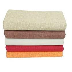Funda para sofá o sillón, colcha de matrimonio grande, de color liso, de algodón (naranja, matrimonial)