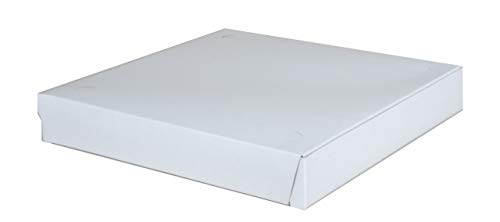 3 Set Southern Champion Tray 1460 Clay Coated Kraft Paperboard White Pizza Box, 12″ Length x 12″ Width x 1-7/8″ Height