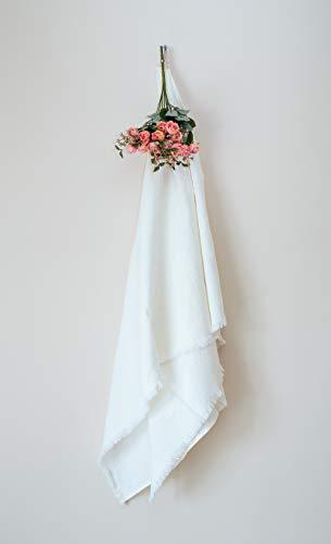 "Linen Bath Towel - Softened and Stonewashed - Grey Towel - 30"" x 58"" - Natural Organic Eco 100% Flax Fabric - Ideal as Bath, Sauna, Spa, Beach Towel (Grey)"