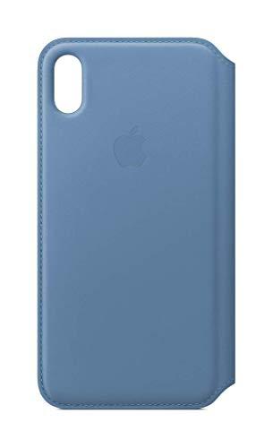 Apple Leren Folio-hoesje (voor iPhone XS) - Korenbloem-blauw
