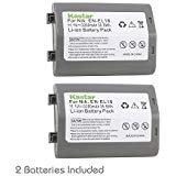 Kastar Battery (2-Pack) for Nikon EN-EL18, EN-EL18a, ENEL18, ENEL18a, MH-26, MH-26a, MH26 and Nikon D4, D4S, D5, D6 Digital SLR Camera, Nikon MB-D12, D800, D800E Battery Grip