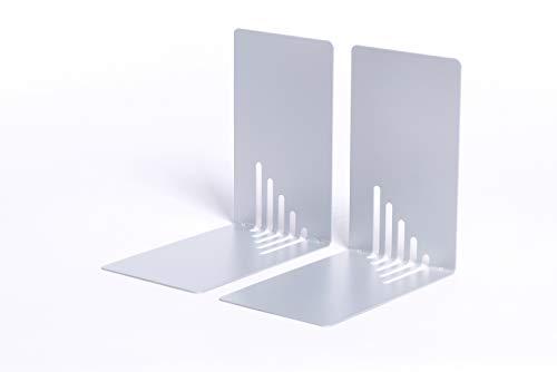 Maul Buchstützen Metall, schmal, 14x8,5x14 cm, silber, 3501095