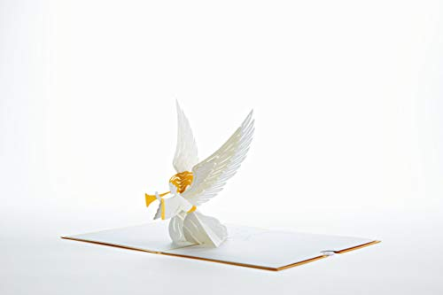 Lovepop Christmas Angel Pop Up Card - 3D Card, Christmas Pop Up Card, Religious Christmas Card, Angel Greeting Card, Holiday Greeting Card Photo #2