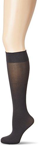 Wolford Damen 30923 Kniestruempfe, Frauen Struempfe,Basic,blickdicht,weich,komfortabel.7221 anthracite,Medium (M)