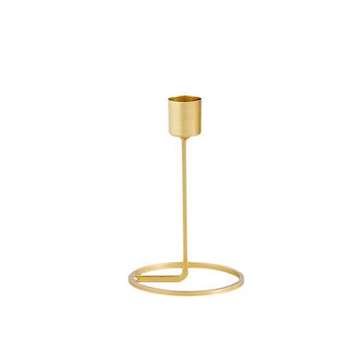 Sue-Supply Bruiloft/Dineren Kandelaar Houder, Centerpiece Taper Kaars Houder, Gouden Kaarslicht Diner Tafelblad Ornamenten Voor Feest Bruiloft (Golden Brass)