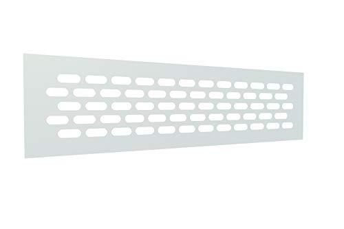 Rejilla Ventilacion Rectangular 60 X 245 mm Rejilla Ventilacion Horno Rejillas de Ventilacion Aluminio Rejillas para Chimeneas Rejilla Ventilacion Blanca (1 Pieza)