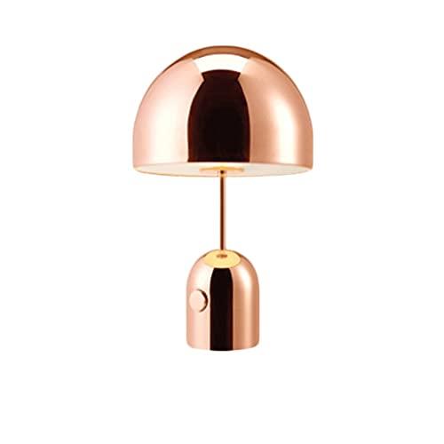 Zoo-yiltd Flexo Led Escritorio Lámpara de Hotel de diseño de Arte Creativo Moderno Minimalista Dormitorio mesita de Noche lámpara (Color : Rose Gold, Light Color : White Light)