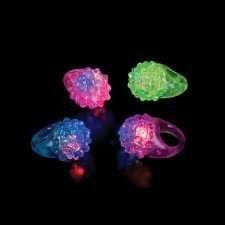 LED Bumpy Rings - 12 per unit